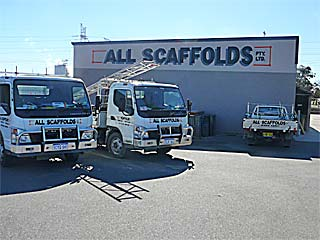 All Scaffolds Naval Base Fleet vehicles